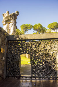 Entrance gate and Statue at the Fosse Ardeatine