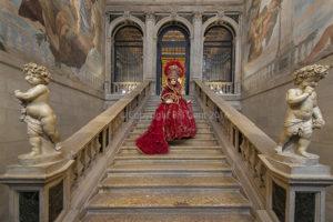 Solange posing on the steps