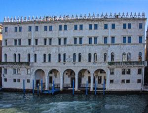 The canal entrance to Fondaco dei Tedeschi, Venice
