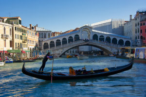 Gondolier on the Grand Canal