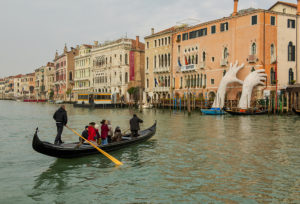 Venetians use traghetti to cross the Grand Canal
