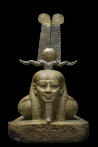 The smiling face of Osiris as he awakens from the dead; Courtesy of St Louis Museum of Art; Photo: Christoph Gerigk©FranckGoddio/Hilti Foundation