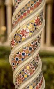 A pillar in the cloister of San Paolo Fuori le Mura