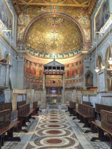 Cosmati pavement, Basilica of San Clemente, Rome