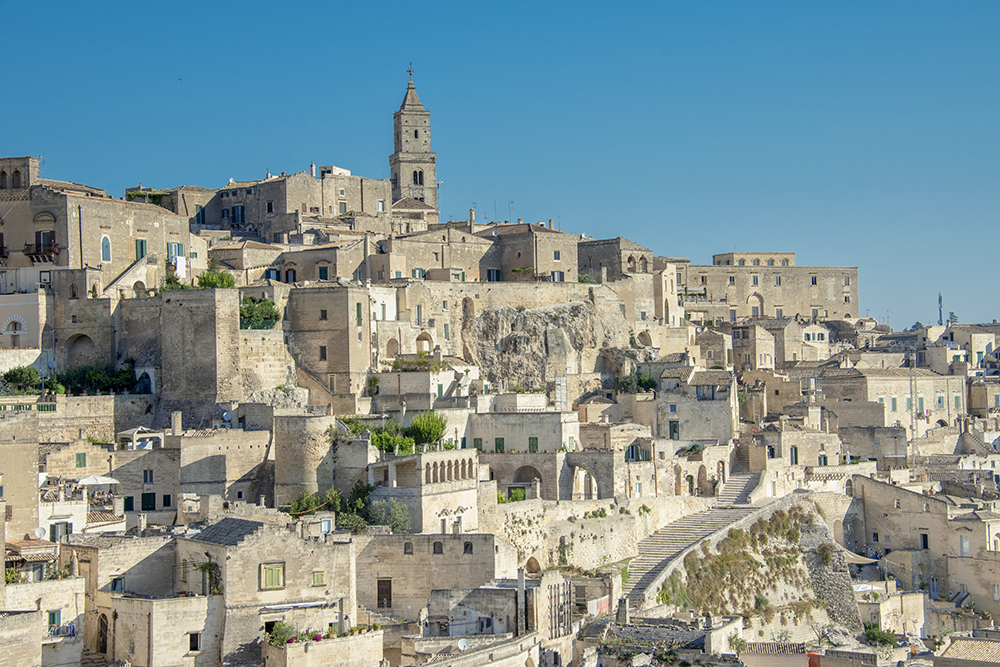View of the Sassi of Matera