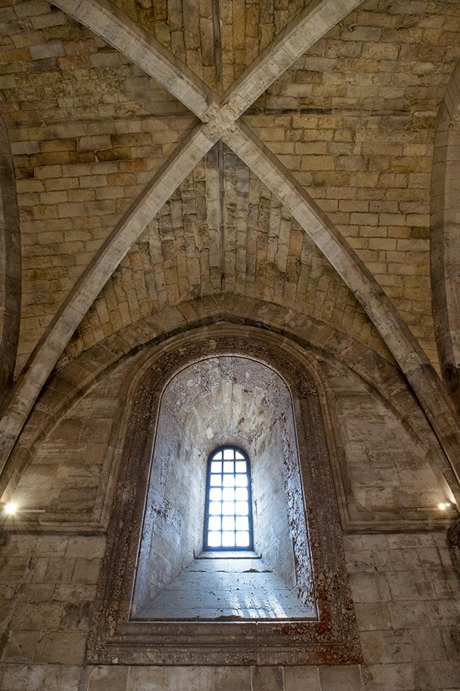 Window in the Castel del Monte, Puglia